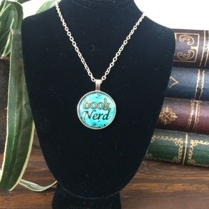 Jewelry - New Book Nerd Cabochon Penant Necklace